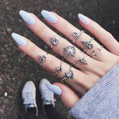 WLP Vintage Knuckle Rings for Women Boho Geometric Flower Elephant Crystal Ring Set women Bohemian Midi Finger rings Punk Price: 0.90 & FREE Shipping #bohogipsy #Boho #Bohochic