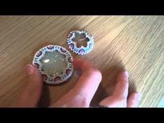 BeadsFriends: Beaded bezel resin cab - Peyote stitch technique | Beaded ...
