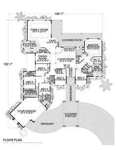 Large One Story Floor Plans   Click thumbnail image for larger version.