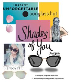 """""""Shades of You: Sunglass Hut Contest Entry"""" by shaunnhicks on Polyvore featuring Miu Miu, Tiffany & Co. and shadesofyou"""