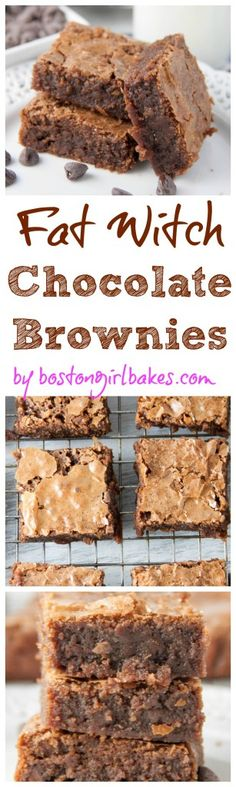 Fat Witch Bakery Chocolate Brownies- only 6 ingredients to make these brownies from the NYC bakery!