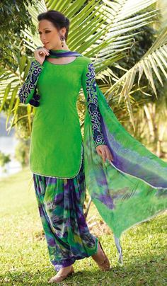 G3 fashions Green jacquard cotton contemporary punjabi suit. Product Code : G3-LSA108449 Product price: INR RS 3802