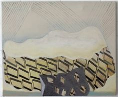 Adrienne Vaughan, Ovarus, 2011, Oil and enamel on canvas, 505 x 605mm
