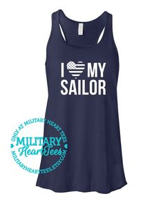 I love my Sailor Navy Racerback Tank Top by MilitaryHeartTees