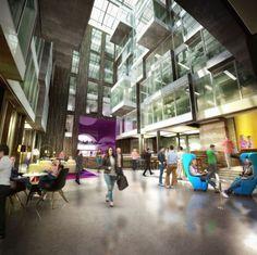 Alphabeta Creative Workspace in Finsbury Square landmark bldg in London by Studio RHE #webdesign #creative #workspace #office #design #designer