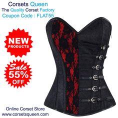de24da9f0451 Agbeze Gothic Brocade Overbust Corset, Red and black corset, Red and black  Dress, RedDress, Black Dresss. Corsets Queen