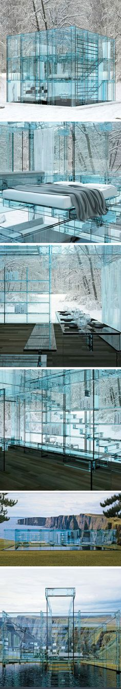 ♂ Glass House & Furniture by Carlo Santambrogio and Ennio Arosio.