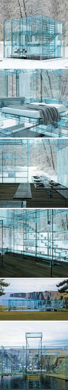 ♂ Glass House & Furniture by Carlo Santambrogio and Ennio Arosio.