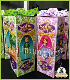 Cajas para Cotillones Infantiles Personalizados (Princesa Sofia The First)   Lythium Art® Design by: Yil Siritt