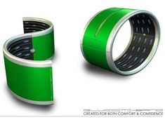 Diabetic Wristbands - The Gluco(M) Wristband is designed to help simplify the life of a diabetic. The futuristic bracelet is able to track glucose levels through bodily ...