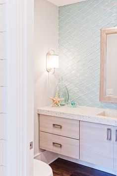 House of Turquoise: Dove Studio Beach House bathroom
