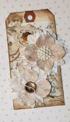 Scraps and Ink 25 Days of Christmas Tags - Flowers
