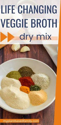 Whole Food Recipes, Soup Recipes, Diet Recipes, Vegan Recipes, Snack Recipes, Cooking Recipes, Family Recipes, Homemade Spices, Homemade Seasonings
