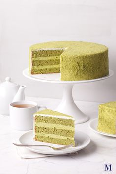 ❤❤❤ Copyrights unknown. Green Tea Mousse Cake @ Lady M Confections.