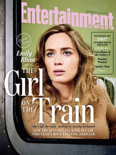 Emily Blunt is off the rails in 'The Girl on the Train'—and we're totally on board.  Photo credit: Ruven Afanador for EW
