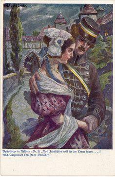 WWI German Fund-Raising Postcard for Warriors, Prisoners of War, War Widows and Orphans
