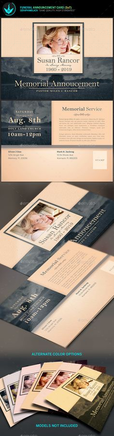 Funeral Program Template u0027Forever With Usu0027 for the service - death announcement templates