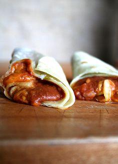 Bean and Cheese Burritos with Homemade tortillas