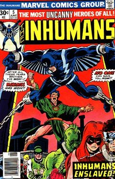THE INHUMANS 5, BRONZE AGE MARVEL COMICS