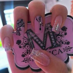 Pin do(a) patricia sonia em nails ногти, красивые ногти e дизайн ногтей. Pretty Nail Colors, Pretty Nail Designs, Pretty Nails, Nail Art Designs, Em Nails, Love Nails, Hair And Nails, Coffin Nails, Acrylic Nails