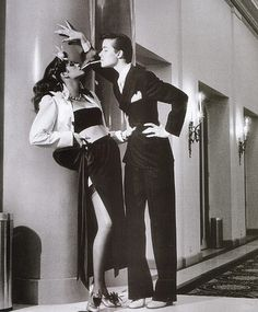 Gia Carangi in the famous Helmut Newton shot