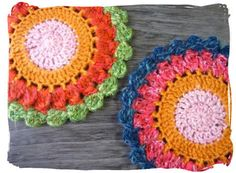 カラフルコースター ~編み図 : のんびり まったり一緒にね♪
