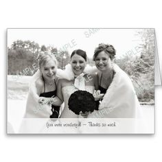 Beautiful Thank You wedding signs perfect for directing friends and family throughout the big day! Photo Thank You Cards, Photo Cards, Bridesmaid Thank You Cards, Wedding Signs, Wedding Ideas, Big Day, Thankful, Couple Photos, Custom Photo