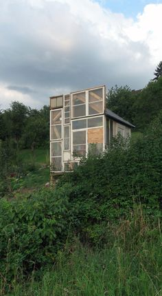 Tiny house in the garden in Stuttgart, Germany. Photos and build by Peter Donn.