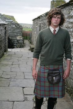 Nice sweater with that kilt.