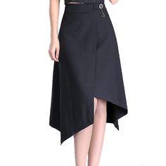 701dcea7fc Buy Fleepmart fashion 2019 Casual Office Lady Oversized Skirt Women High  Waist Summer Asymmetric Midi Skirts