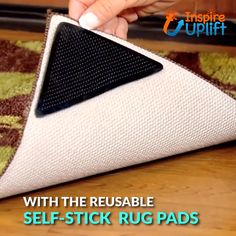 Self-Stick Rug Pads ?- Self-Stick Rug Pads ? These reusable Self-Stick Rug Pads prevent rugs. Dye Carpet, Carpet Tiles, Carpet Places, Fresh To Go, Hotel Carpet, Stair Rugs, Basement Carpet, Wood Stairs, Living Room Carpet