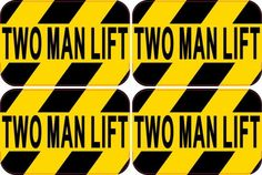Two Man Lift Decal