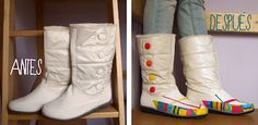 spruce up old boots with paint