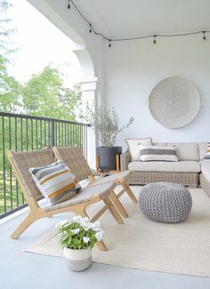 5 Tips For A Stay At Home Summer Patio Refresh Outdoor Seating, Outdoor Rooms, Outdoor Living, Outdoor Decor, Outdoor Patios, Outdoor Kitchens, Pool Furniture, Outdoor Furniture Sets, Pool House Decor