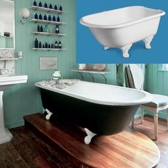 Painted clawfoot thisoldhouse.com | from How to Create a Vintage-Style Bathroom