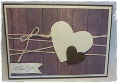 Kreatives aus Papier, Stampin Up Karte Hölzerne Hochzeit