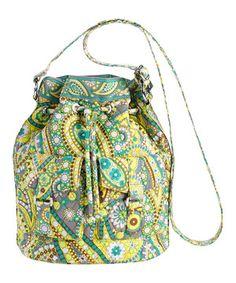 This Lemon Parfait Quick Draw Bucket Bag by Vera Bradley is perfect! #zulilyfinds