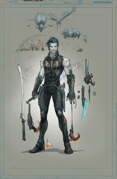 Lobo's New Look - DC comics  concept art: http://www.dccomics.com/blog/2013/08/23/whats-new-in-the-new-52-lobos-new-look#4