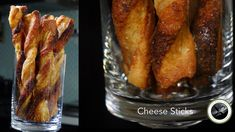 Learn how to reuse your puff pastry scraps and turn it into a crispy cheesy treats! Cheese sticks or straws are so good as is and certainly a hit when dipped...