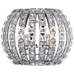 "Possini Euro Crystal and Chrome 10 1/4""W Pocket Wall Sconce - #R8023 | LampsPlus.com"