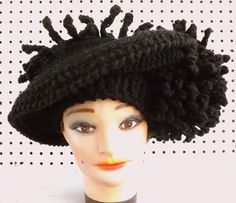 Black Crochet Hat Womens Hat Kentucky DERBY Hat Crochet Wide Brim Hat Women Crochet Flowers Black Hat by strawberrycouture on Etsy  Black Crochet Hat Womens Hat Kentucky DERBY Hat Crochet Wide Brim Hat Women Crochet Flowers Black Hat (85.00 USD) by strawberrycouture on Etsy http://ift.tt/1DFJEzW (Unique Womens Crochet & Knit Hats Scarves Patterns) Strawberry Couture on Etsy is about having fun with a crochet hook and knitting needles for women to wear unique crochet & knit hats scarf…