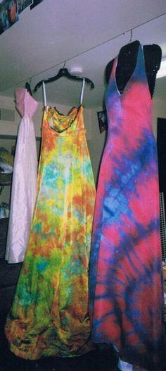 5c50829e124 hippie style wedding dresses tie dye