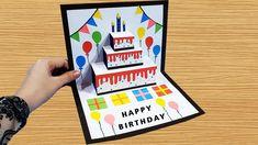 Birthday Card Pop Up, Simple Birthday Cards, Bday Cards, Kids Birthday Cards, Pop Up Greeting Cards, Birthday Greeting Cards, Pop Up Christmas Cards, Happy Birthday Cards Handmade, Tarjetas Diy