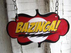 Geekery Black Friday Cyber Monday Sale 20% off Nerd Bazinga Big Bang Theory Geek Necklace. $29.00, via Etsy.
