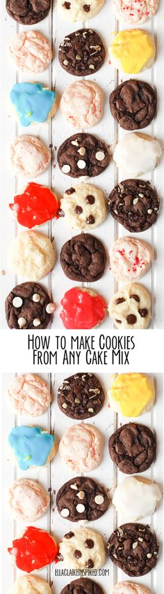 How to Make Soft and Delicious Cookies from any Cake Mix! Pinning for reference.