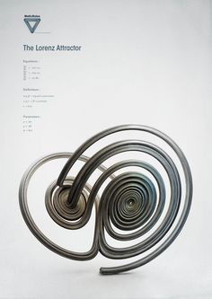 Strange Attractors: el atractor de Lorenz. Las ecuaciones de Lorenz son un modelo simplificado de la convección atmosférica. La conducta final (atractor) es lo que algunos llaman caos determinista. Dos puntos que inicialmente son muy cercanos pueden evolucionar a estados muy distantes o nuevamente muy cercanos, sin que se pueda predecir con exactitud.  #caos