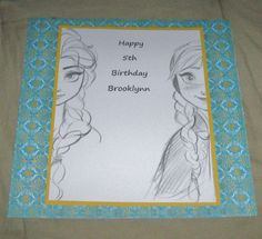 Disney Frozen Wall Decorations (printed sketches and used colored paper)