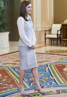 Queen Letizia met with representatives of EDF at Zarzuela Palace
