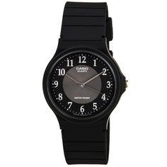 Casio MQ24-1B3 Men's Classic Casual Dress Grey Dial Black Resin Strap Watch,