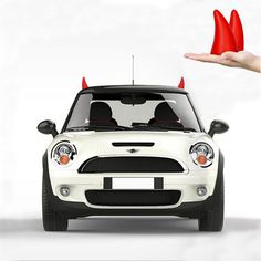 Car Decal sticker exterior car sticker 3D car decoration Rooftop Emblem Protection Auto Hood Decorative Cute and a good car finder for you (1set -pack,red angle)
